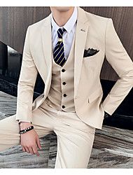 cheap -Tuxedos Tailored Fit Notch Single Breasted One-button Polyester Solid Colored / Classic
