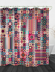 cheap -Colorful Ethnic flowers Print Waterproof Fabric Shower Curtain for Bathroom Home Decor Covered Bathtub Curtains Liner Includes with Hooks