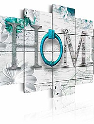 "cheap -dreamy home decoration large 5 panels turquoise canvas print painting modern wall art decor 60"" w x 30"" h"