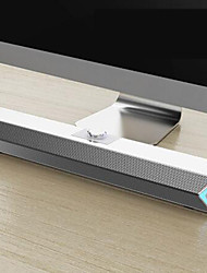 cheap -Desktop PC Speaker 3W USB 4 Uints Sound Thick Bass Subwoofer Full-Range Mini Soundbar Support AUX TF Card