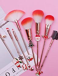 cheap -8 pcs/set Makeup Brush Set Midi Fox Christmas Gift Elk Makeup Brush Beginner Eyebrow Brush Set Beauty Tool Giveaway Gift