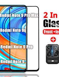 cheap -1/2/3PCS 2in1 Protective Glass on For Xiaomi Redmi Note 10 Pro Max  Tempered Glass For Xiomi Redmi Note 10 Pro Back Camera Lens Screen Protector For Redmi Note 9 pro