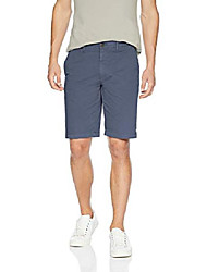 "cheap -amazon brand - men& #39;s slim-fit 11"" inseam flat-front comfort stretch chino shorts, -navy, 33"
