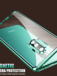 cheap -Case For OnePlus OnePlus 8 / OnePlus 8 Pro Shockproof / Flip / Transparent Full Body Cases Transparent Tempered Glass / Metal/ Camera Lens Drop Protection / With Packaging