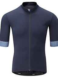 cheap -21Grams Men's Short Sleeve Cycling Jersey Black / Blue Bike Jersey Top Mountain Bike MTB Road Bike Cycling UV Resistant Breathable Quick Dry Sports Clothing Apparel / Stretchy