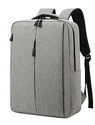 cheap -Large Capacity / Waterproof Commuter Backpack Unisex Oxford Cloth Zipper Solid Color Daily Black / Blue / Gray