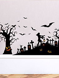 cheap -Halloween Wall Stickers Decorative Wall Stickers, PVC Home Decoration Wall Decal Wall Decoration / Removable 30*90*2CM
