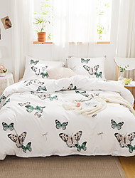 cheap -Colorful Butterfly Print 3-Piece Duvet Cover Set Hotel Bedding Sets Comforter Cover with Soft Lightweight Microfiber(Include 1 Duvet Cover and 1or 2 Pillowcases)