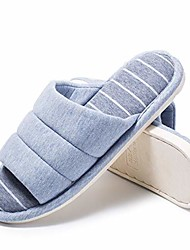 cheap -women's soft indoor slippers open toe cotton memory foam slip on home shoes blue 40/41