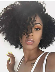 cheap -Human Hair Wig Short Afro Curly Bob Natural Women Sexy Lady New Capless Burmese Hair Women's Natural Black #1B 12 inch 14 inch 16 inch