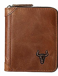 cheap -mens zipper wallets rfid blocking bifold wallet for men with zipper - flap id window coin pocket credit card wallet - leather zip wallet slim