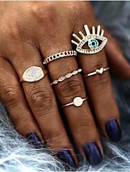 cheap -Multi Finger Ring Classic Gold Rhinestone Alloy Eyes European Fashion 6pcs 8 / Women's