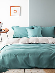cheap -Solid Color 2/3 Pieces Bedding Set Duvet Cover Set Comforter Cover Ultra Soft Hypoallergenic Microfiber Include 1 Duvet Cover and 1 or2 Pillowcases