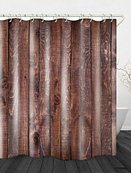 cheap -Pine Wood Board Print Waterproof Fabric Shower Curtain for Bathroom Home Decor Covered Bathtub Curtains Liner Includes with Hooks 72 Inch