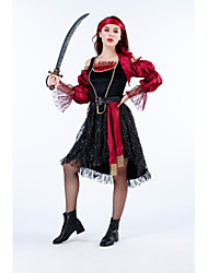 cheap -Snow White Pirate Movie / TV Theme Costumes Cosplay Costume Costume Adults' Women's Halloween Halloween Festival Halloween Festival / Holiday Lace Polyester Black Women's Easy Carnival Costumes Solid