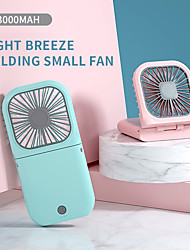 cheap -Portable Cool Desk Fan USB Rechargeable 3 Speed Adjustable Foldable With Hanging Rope mobile power bank