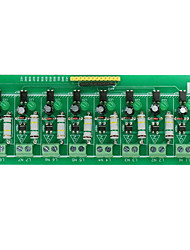 cheap -AC 220V 8 Channel MCU TTL Level 8 CH Optocoupler Isolation Detection Test Board Isolated Module Tester Processors PLC