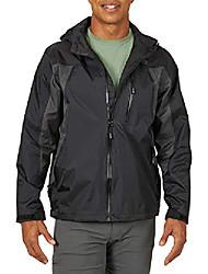 cheap -men's rain jacket, black, 4x