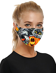 cheap -Halloween Dust-proof Breathable Cloth Mask for Men and Women with Insertable Filter