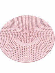 cheap -lazy silicone bath massage cushion shower foot scubber brush anti-slip clean dead skin bathroom spa beauty salon care cushion-1 pack (pink)