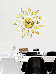cheap -20 Inch Modern Design Sunflower Shape DIY Wall Clock 3D Acrylic Mirror Clock With Quartz Needle For Living Room Bedroom