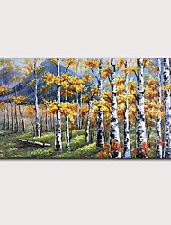 cheap -Oil Painting Hand Painted - Landscape Abstract Landscape Modern Rolled Canvas (No Frame)