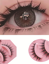 cheap -5 Pairs Thick Artificial False Eyelashes Hard Stem False Eyelashes Stage Cos False Eyelashes Beauty Tools Party Halloween