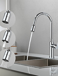 cheap -Kitchen faucet - Single Handle One Hole Chrome / Electroplated Pull-out / Pull-down / Tall / High Arc Contemporary Kitchen Taps