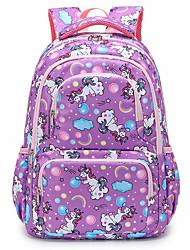 cheap -Girls' Nylon School Bag Large Capacity Zipper Geometric Floral Print Daily School Black Blushing Pink Light Purple