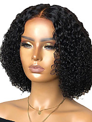 cheap -Synthetic Wig Afro Curly Loose Curl Middle Part Wig Short Black Synthetic Hair 10 inch Women's Fashionable Design Classic Fluffy Black