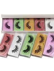 cheap -3d Imitation Mink Eyelashes 10 Pairs Color Mixed Natural False Eyelashes Makeup Fashion Cosmetic Grooming Supplies