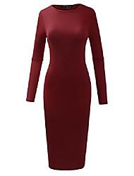 povoljno -ženska slim fit haljina sa sendvičem senf xx-large