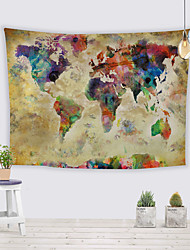 cheap -Wall Tapestry Art Decor Blanket Curtain Picnic Tablecloth Hanging Home Bedroom Living Room Dorm Decoration Polyester World Map Tie Dye