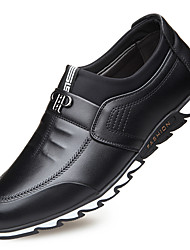 cheap -Men's Loafers & Slip-Ons Casual Daily Leather Wear Proof Black Blue Brown Fall Winter