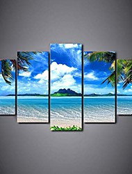 cheap -5 panel modern home decorative frameless painting canvas wall art for living room bedroom bathroom