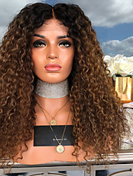 cheap -Synthetic Wig Curly Afro Curly Middle Part Wig Long Light Brown Synthetic Hair 18 inch Women's Party Classic Comfortable Light Brown