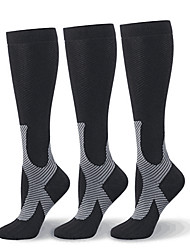 cheap -Compression Socks Athletic Sports Socks 1 Pair Men's Women's Tube Socks Breathable Moisture Wicking Soft Promote Blood Circulation Fitness Gym Workout Hiking Running Active Training Sports Dot Stars