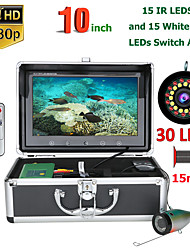 cheap -MOUNTAINONE F10AS-2L-15M 10 inch Fish Finder Underwater Fishing Camera15pcs Infrared Lamp 1080P 15M Camera+15pcs White LEDs For Ice Fishing