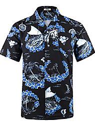 cheap -men's hawaiian shirt 4 way stretch relax fit floral tropical shirts hws035 3xl