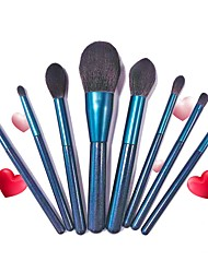 cheap -8 Pcs Makeup Brushes Set Face Powder Foundation Blending Blush Contour Concealer Eye Shadow Indigo Make Up Brushes Kit