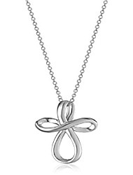 """cheap -sterling silver infinity cross pendant necklace 18"""""""