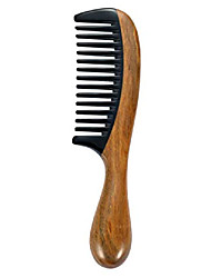 cheap -wooden wide tooth hair comb for curly hair black buffalo horn comb