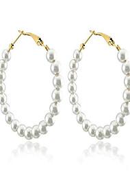 cheap -pearl hoop earrings for women fashion dangle hypoallergenic layer earrings drop dangle earrings gifts for women (link)