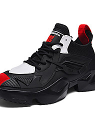 cheap -Men's Trainers Athletic Shoes Athletic Running Shoes PU Black / Red White Black Fall Spring