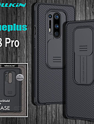 cheap -Case For OnePlus OnePlus 8 / OnePlus 8 Pro Shockproof Back Cover Lines / Waves / Solid Colored TPU / PC