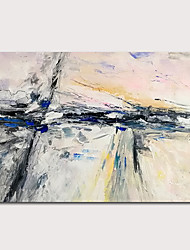 cheap -Oil Painting Hand Painted - Abstract Abstract Landscape Modern Rolled Canvas (No Frame)