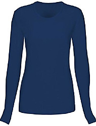 cheap -womens comfort long sleeve t-shirt, navy, 2xl
