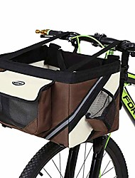 cheap -bicycle pet carrier,traveler 2-in-1 pet bike basket and over the shoulder carrier (brown)