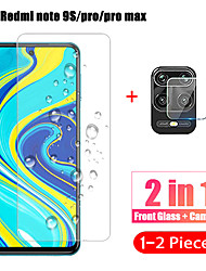 cheap -1-2Pcs 2 in 1Camera lens Tempered Glass for Xiaomi Redmi Note 10 Pro Max Note 10S Screen Protector Film For Redmi Note 9 Pro Glaass Film Redmi Note 10 5G Redmi Note 9 Pro Max