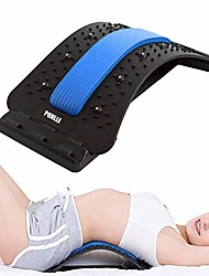 cheap -lower back stretcher with magnetic acupressure points multi-level lumbar stretching devicelumbar for pain relief chronic herniated disc sciatica scoliosis spinal back stretcher for relieve back pain